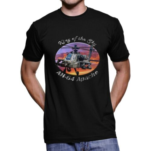 AH-64 Apache King Of The Sky Men`s Dark T-Shirt