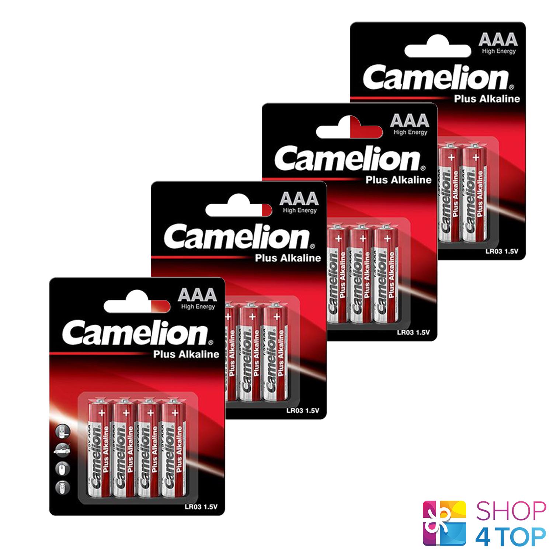 16 camelion AAA plus alkaline batteries lr03 mn2400 e92 1.5v 4bl Exp 2027 new