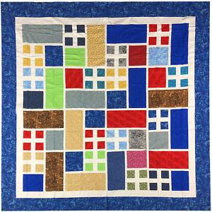 Best Seller QUILT TOP Patchwork Grandma/'s Garden Window Scrap quilt colors