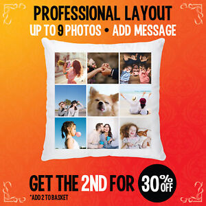 Personalised-Pillowcase-Photo-Cushion-Cover-Custom-Collage-Mother-039-s-day-gift