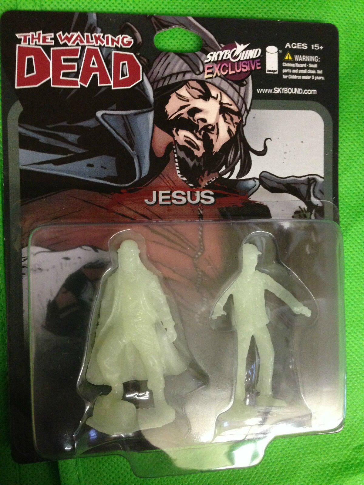 SDCC 2014 THE WALKING DEAD SKYBOUND JESUS GLOW IN IN IN THE DARK GID 500 MADE  RARE  bd1c38