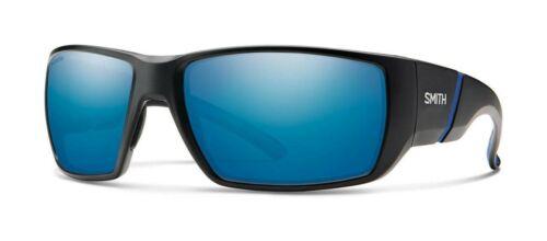 Smith Transfer Matte Black Polarized Blue Mirror 003 QG ChromaPop Sunglasses