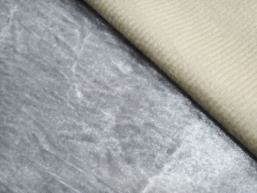Mn112a Silver Crushed Velvet Style Cushion Cover//Pillow Case *Custom Size*