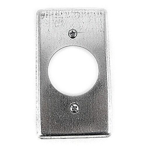 T /& B 58C4 Utility Box Cover twist-lock receptacle hole diameter 1-19//32 inch