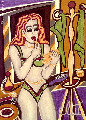 JACQUELINE DITT - Line Up A4 DRUCK n.Gemälde Bild Bilder art