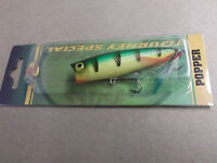 Custom Painted Bass Pro Shops Tourney Special Pop N Splash Popper,northern Perch