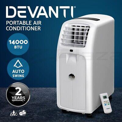 DEVANTi Portable Mobile Air Conditioner Fan Cooler Cooling Dehumidifier 14000BTU