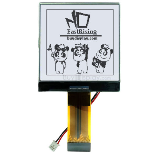 """3V 2.5/""""//128x128 Dots Graphic LCD Module Display,ST7541 w//Tutorial,Connector"""