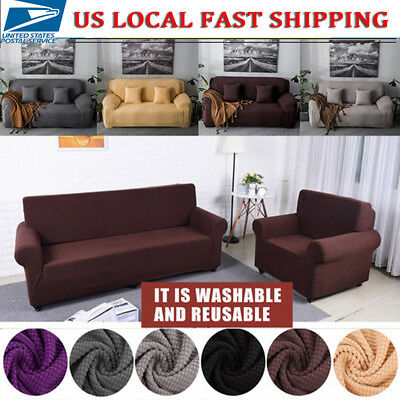 Surprising 1 4 Seater Comfortable Stretch Elastic Fabric Sofa Cover Sectional Couch Covers Ebay Ibusinesslaw Wood Chair Design Ideas Ibusinesslaworg