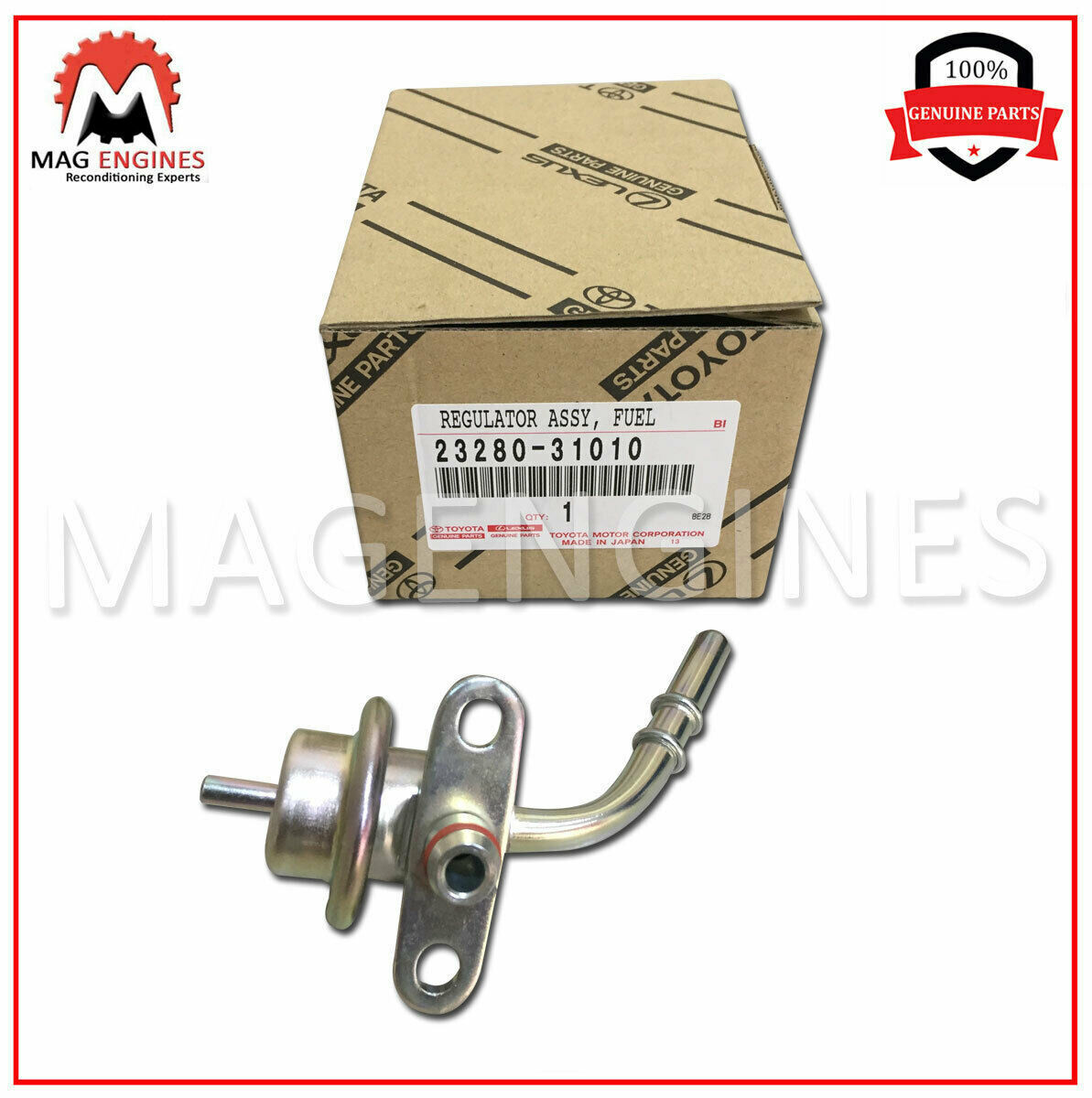 One New Genuine Fuel Injection Pressure Regulator 2328031010 for Toyota