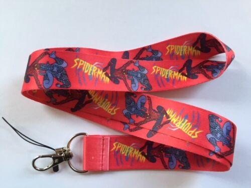 Spider-Man Lanyard NEW  UK Seller Keyring ID Holder Phone Strap Man Spiderman