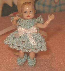 Handmade-Dress-and-Booties-for-Heidi-Ott-Baby-Doll-Outfit-Only