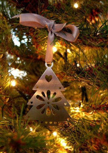 Arbre de Noël Décoration Coupe Laser Ornement de Noël Suspendu En Acier Inoxydable Cadeau