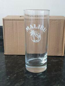 X2-Malibu-Rum-Tall-Gla-s-Brand-New-Free-P-amp-P