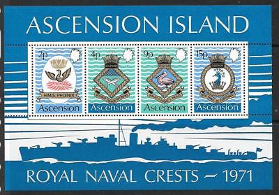 Sunny Ascension Sgms153 1971 Naval Crests Mnh Special Summer Sale British Colonies & Territories