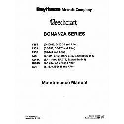 beechcraft bonanza v35b f33a f33c a36 tc b36tc g36 maintenance rh ebay com G36 Airplane G36 Cockpit