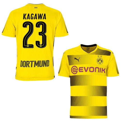 Puma BVB Borussia Dortmund Home Heimtrikot 2017//2018 gelb//schwarz mit Flock