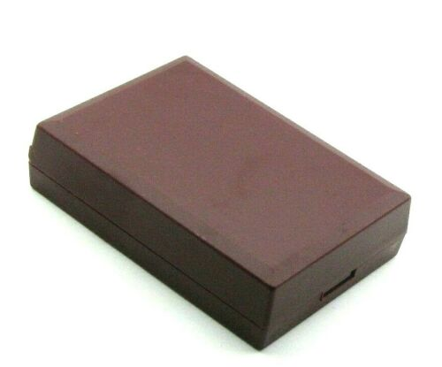 Burgundy plastic chain /& pendant box with burgundy foam insert