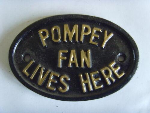 Portsmouth Pompey Fan Calcio TARGA SIGN