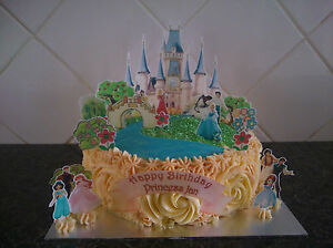 Disney Princess Castle Scene **WAFER** Edible Cake ...
