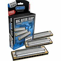 Hohner Big River Harmonica, Prp-pack, 3 Key Set: G-a-c, Includes Case, 3p590 on sale