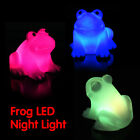 Cute Frog Color Changing Flashing LED Night Light Lamp Home Decoration