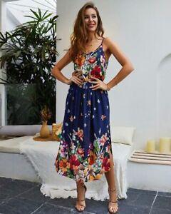 Beach-Women-cocktail-party-maxi-dress-floral-boho-evening-summer-sundress-long