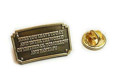 Disney Disneyland Entrance Plaque Fantasy TIE BAR CLIP