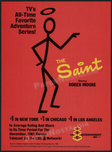 THE SAINT__Original 1981 Trade Print AD / ADVERT / TV series promo__ROGER MOORE