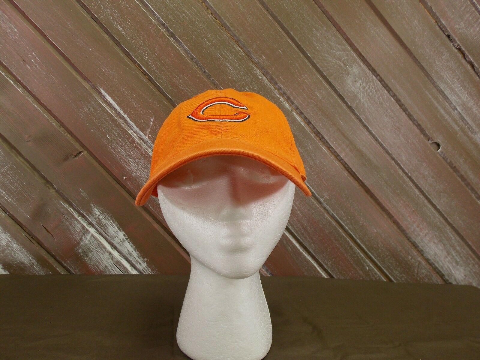Chicago Bears One Football Baseball Cap Hat Lid  Orange One Bears Size Strap Back b59013