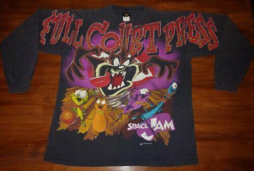 1996 Space Jam Full Court Press All Over Shirt DOU