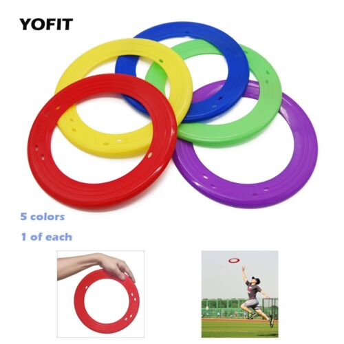 Set of 5 Yofit 10/'/' Flying Ring with Assorted Colors
