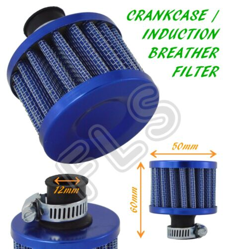 FUEL CRANKCASE ENGINE CAR BIKE RENAULT OIL MINI BREATHER AIR FILTER BLUE