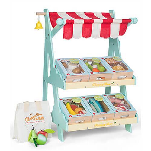 Le Toy Van  Honeybake  de madera puesto de mercado