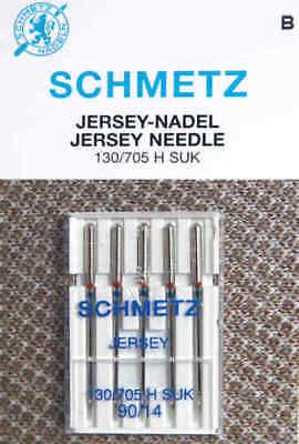 5 Schmetz Jersey agujas 130//705 h grosor suk 90 agujas máquina de coser