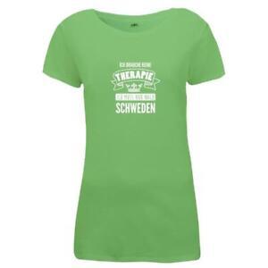 Damen-T-Shirt-Schweden-Therapie-Therapy-Sweden