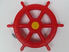 Lenkrad ROT für Spielturm Steuerrad Schiffslenker Lenker Pirat Seemann Schaukel