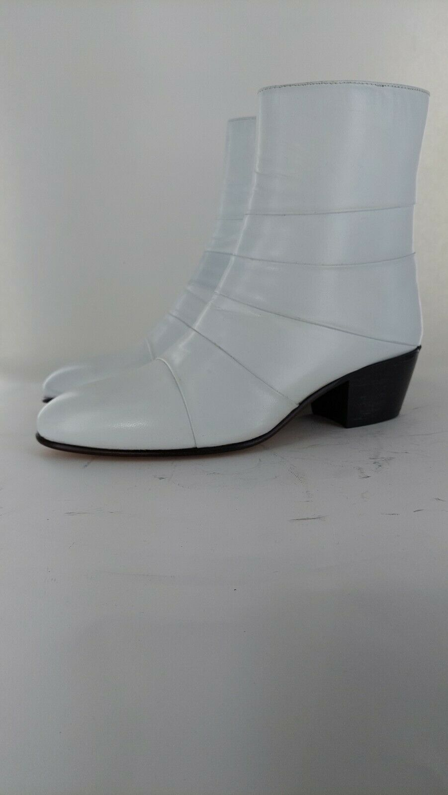SHUPERB Mens Leather Smart Cuban Heel Ankle Boots UK Size 7#767