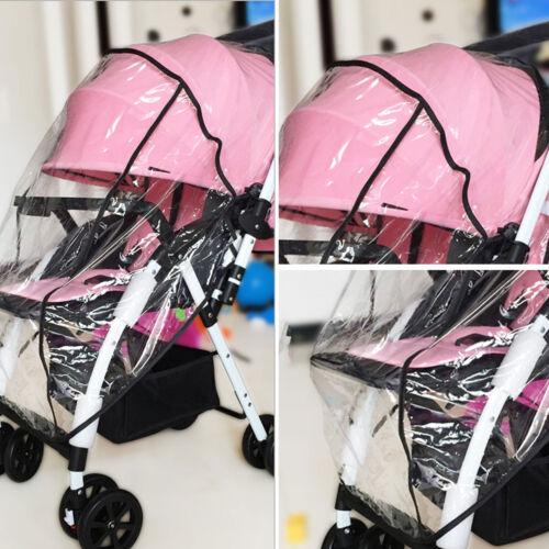 Universal Baby Pushchair Stroller Raincover Clear Rain Cover Pram Buggy w Window