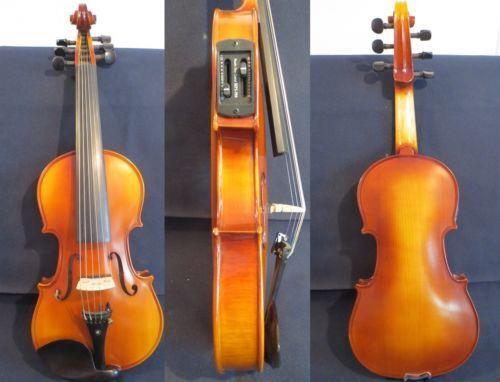 Massivholz Guarneri Stil braune Farben elektrisch & akustische 6 Saiten lila 16