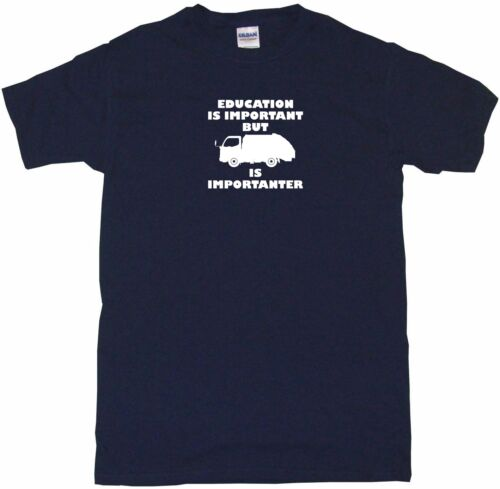 Education Is Important But Garbage Truck Logo is Importanter Kids Tee Shirt Pick