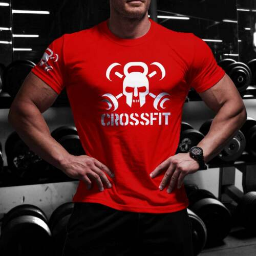 CROSSFIT NEW T-shirt GYM WOD Functional Training Tshirt Sport Workout Strength N