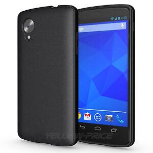 For-LG-Google-Nexus-5-D820-Cover-Black-TPU-Soft-Rubber-Matte-Back-Case-HD-Films