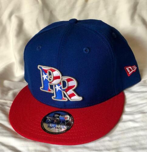 PUERTO RICO PRIDE NEW ERA 9FIFTY MI ORGULLO COQUI BLUE//RED SNAPBACK HAT//CAP NWT