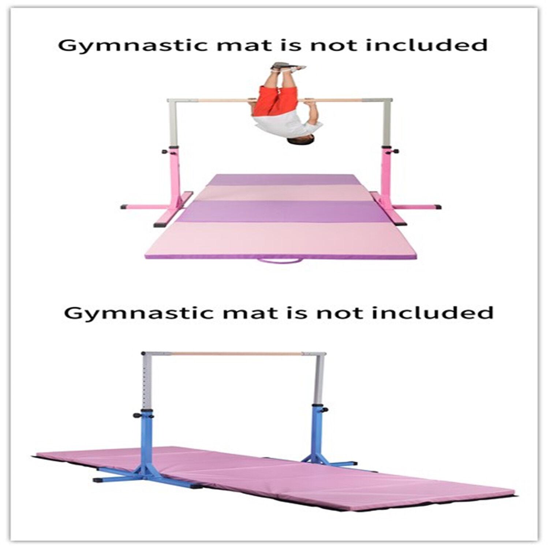 Adjustable Gymnastics Bar Training Horizontal Bar Junior Kids Indoor Home