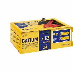 chargeur automatique 024496 gys batium 7 12 6 12 v pour batterie de 15 130ah ebay. Black Bedroom Furniture Sets. Home Design Ideas