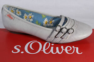 s-Oliver-Bailarina-Zapatilla-Bajo-Zapatos-zapatos-de-tacon-gris-NUEVO
