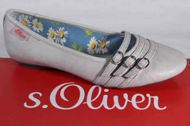 s. Oliver Bailarina Zapatilla Bajo Zapatos zapatos de tacón gris NUEVO