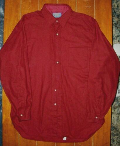 PENDLETON Virgin Wool RED SHIRT mens  large