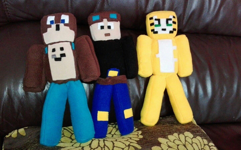 DanTDM,Stampy Cat,Lee Bear Minecraft handcrafted soft fleece plush11 inch